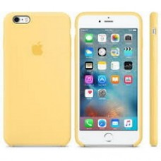 Чехол силиконовый Apple Silicone Case Yellow для iPhone 6/6S Plus